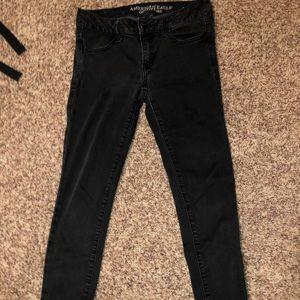 American eagle black super stretch jeans